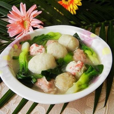 杂丸菜心汤