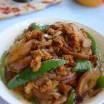 青椒茄子炒肉末