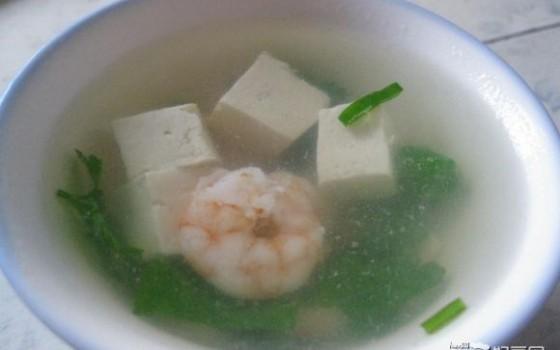 虾仁豆腐汤