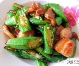 黄秋葵怎么吃--黄秋葵炒肉片