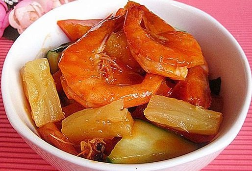 酸甜菠萝虾