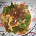 青椒炒鸡片