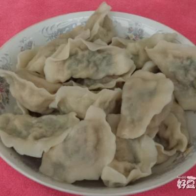 猪肉倭瓜韭菜馅水饺