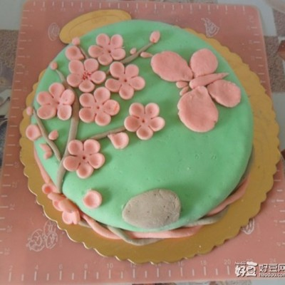 翻糖蛋糕桃花儿