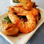 鸡块烧海虾