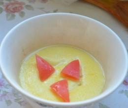 橙香炼乳蒸蛋