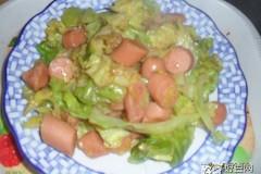 卷心菜炒火腿