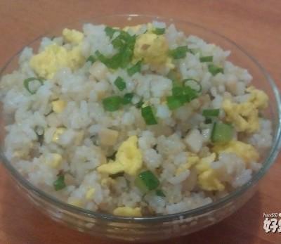 杏鲍菇炒蛋饭
