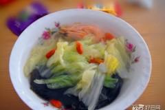 海虾白菜汤