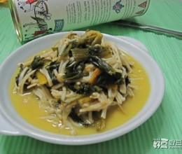 咸菜炒金针