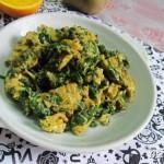 芹菜叶子炒鸡蛋