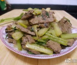 芹菜炒羊肝