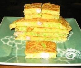 西葫芦虾仁鸡蛋饼