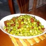 腊肉炒豌豆