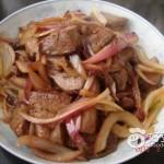 猪肝炒洋葱