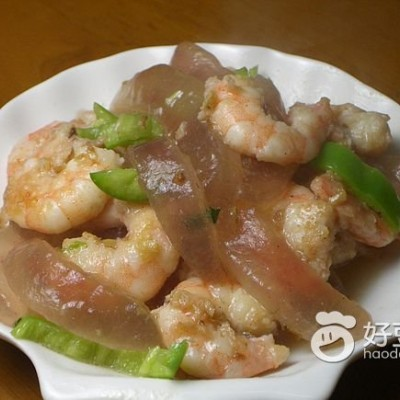 虾仁炒芦荟