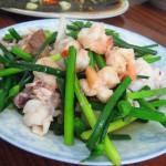 虾球鱿鱼韭菜苔