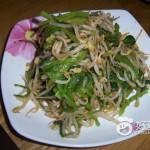 豆芽拌菠菜