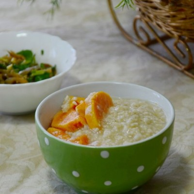 地瓜麦片粥