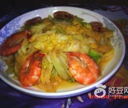 大头菜炒虾