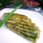 叉烧酱韭菜饼