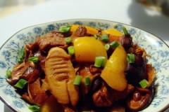 里脊肉香菇炒笋片