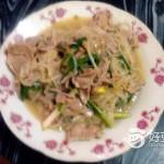 黄豆芽炒瘦肉