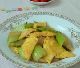 鸡蛋萝卜炒油菜