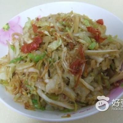 素炒圆白菜