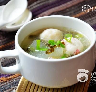 紫菜冬瓜鱼丸汤