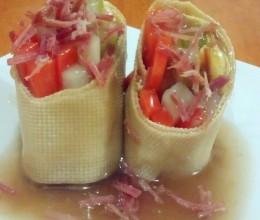 金华火腿怎么做好吃-金华火腿蔬菜卷