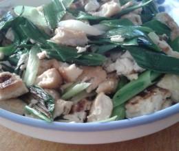 香煎北豆腐炒青蒜