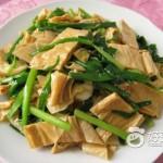 腐竹炒韭菜