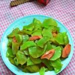 莴苣炒火腿