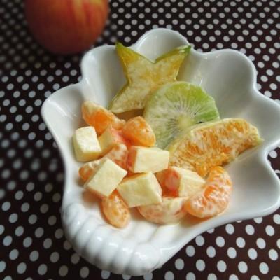 杨桃橙子水果沙拉