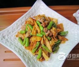 腐竹炒肉末