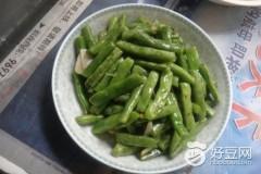 姜丝爆炒四季豆