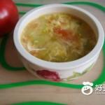 西红柿蛋花丝瓜汤
