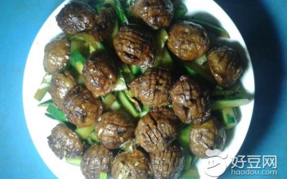 青瓜炒牛肉丸
