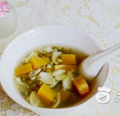 南瓜百合绿豆汤