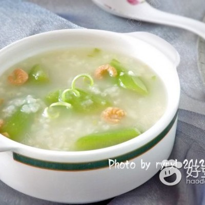 海米丝瓜粥