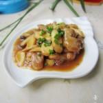 肉片炒鸡腿菇