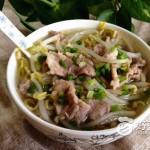 豆芽肉片汤