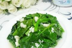 蒜末木耳菜