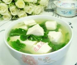 萝卜苗豆腐汤