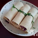 紫甘蓝蔬菜卷