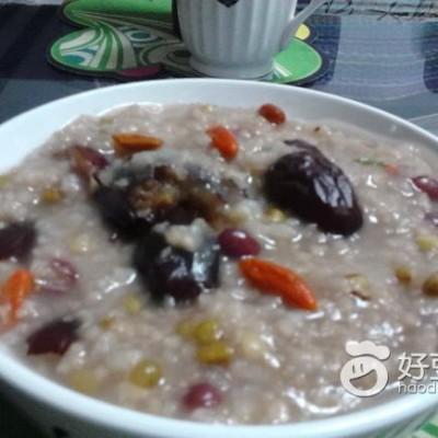 大枣红豆绿豆粥