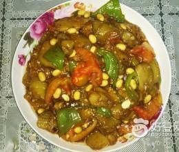 黄豆熘茄片