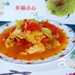 虾皮西红柿炒包菜