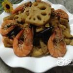 藕片炒大虾